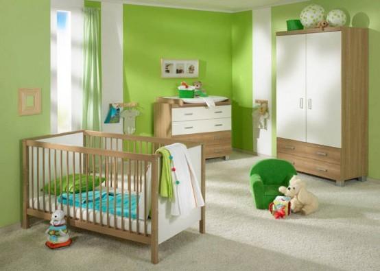 Зеленый цвет в детской