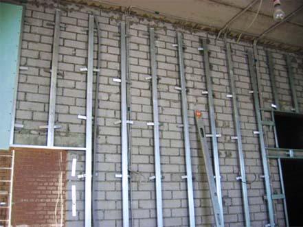 выравнивание стен - Обшивка стен гипсокартоном