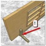 Приспособление для работ при установке двери, врезке замка, установки петель
