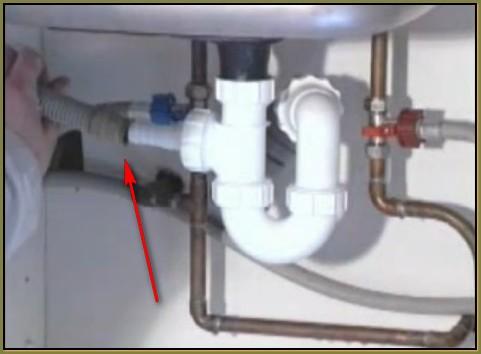 подсоединение слива стиральной машины к сифону