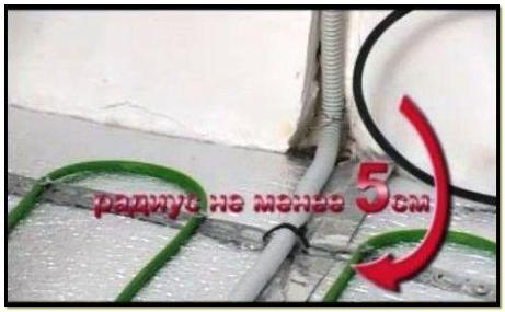 укладка гофры от термодатчика