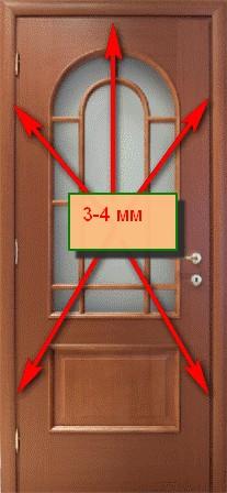 Зазор между дверным полотном и коробкой