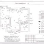 Электропроект большой трехкомнатной квартиры (3 листа)