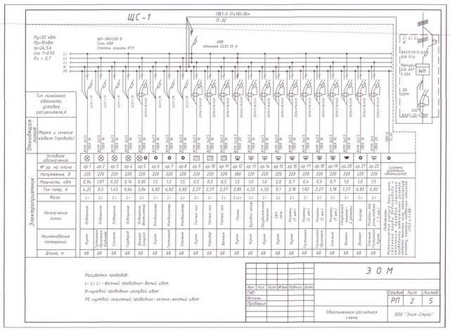 Схемы электропроекта