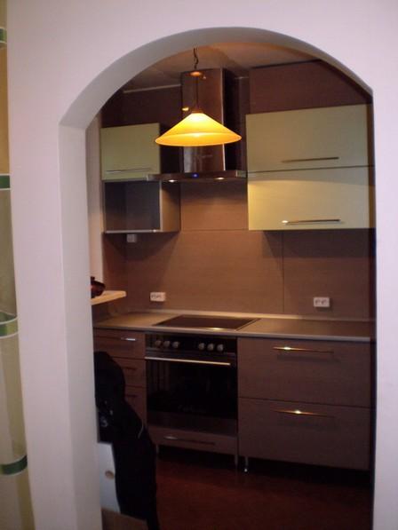 арка из гипсокартона на кухне