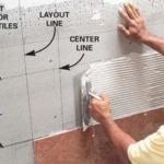 Чертеж укладки плитки: как правильно разметить укладку плитки