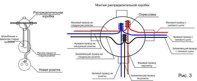Электросхема освещения большой