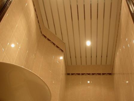 Какой ремонт потолка выбрать-реечный потолок