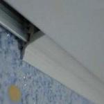 Виды крепления натяжного потолка