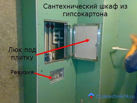 santehnicheskij-shkafov-gipsokarton