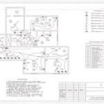 ЭЛЕКТРОПРОЕКТ#8:Электропроект четырехкомнатной квартиры.(3 ЛИСТА)