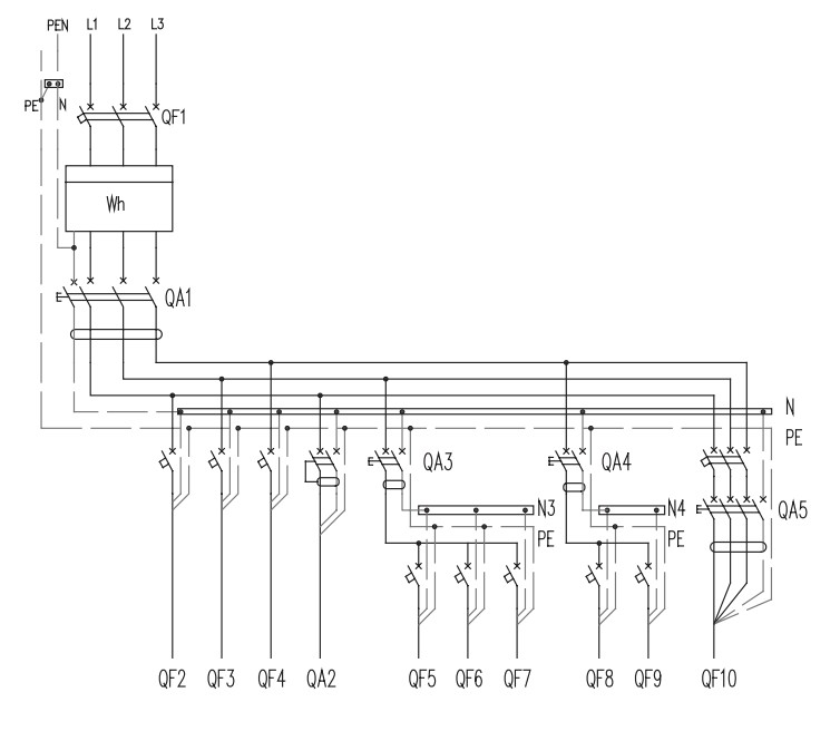 L1 схема электричества