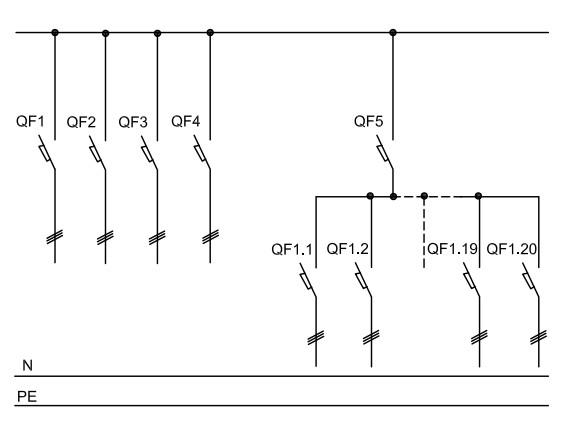 принципиальная схема щита