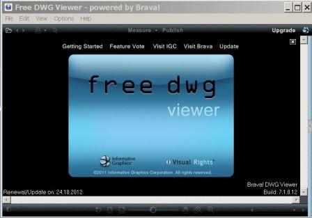 в формате DWG при помощи