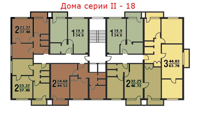 Дома серии ΙΙ – 18-схема