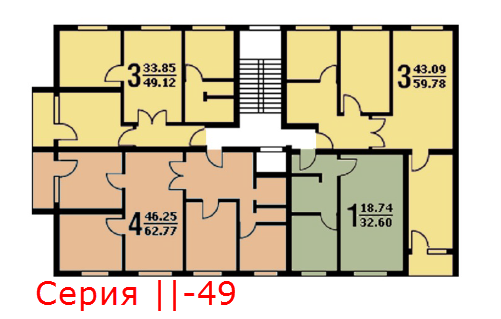 Планировка2_ квартир серия -49