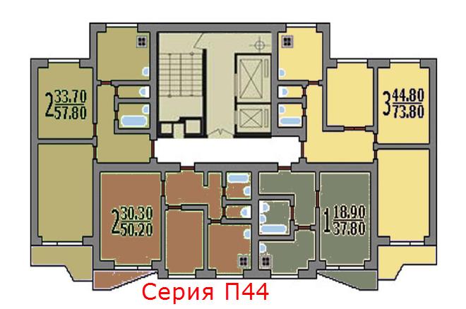 Серия домов П44 стала основой