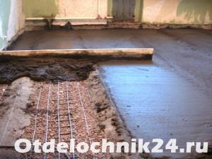 Устройство цементно-песчаной стяжки на керамзитовой подушке