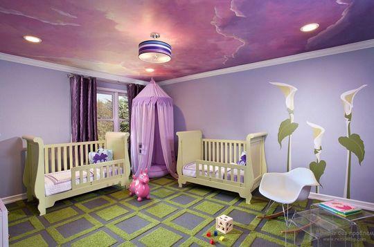 натяжной-потолок-в-детской-комнате