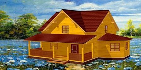 деревянные коттеджи из бруса