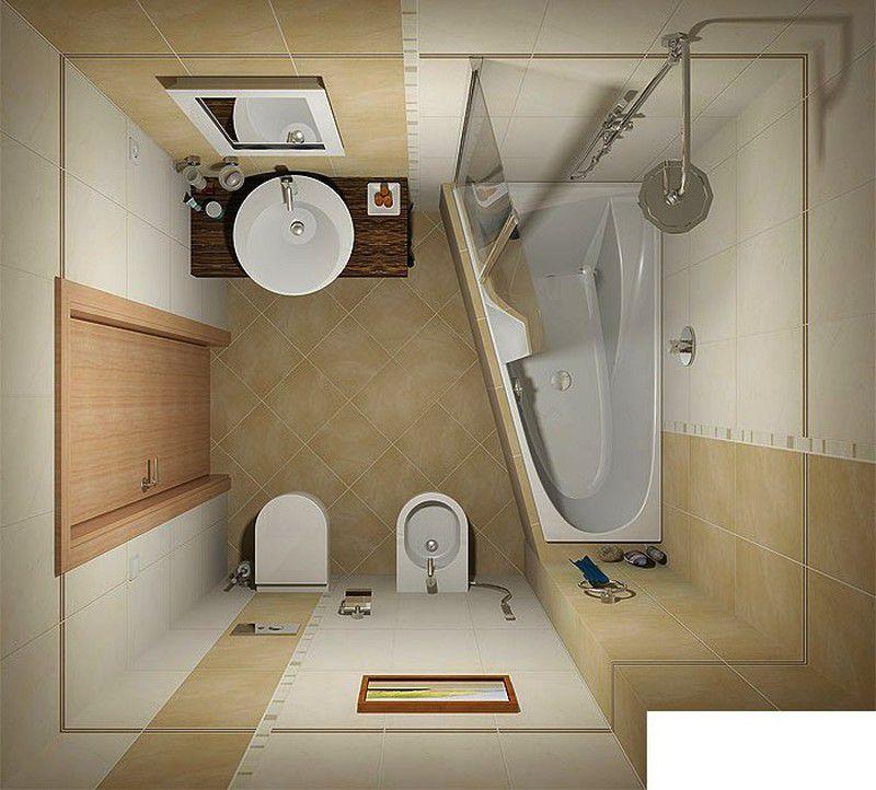 дизайн ванной комнаты с нестандартной ванной