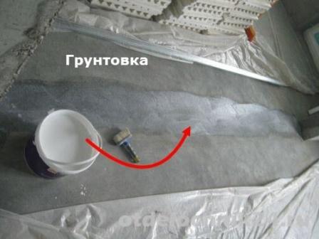 Монтаж пазогребневой плиты грунтовка
