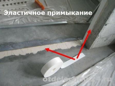 Монтаж пазогребневой плиты эластичное примыкание