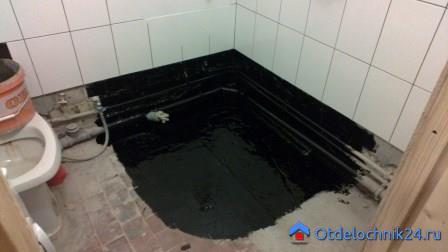 выполнить гидроизоляцию в ванной комнате