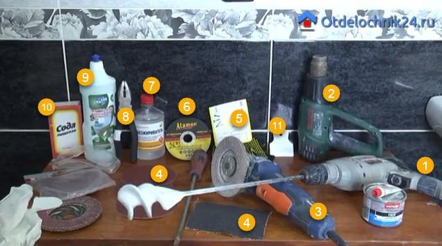 Фото инструментов и расходных материалов