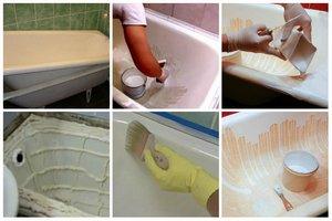 способы реставрации старой ванны