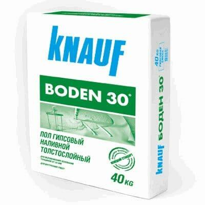 гипсового наливного пола Knauf Boden 30