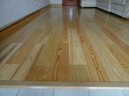 деревянный пол из лиственницы