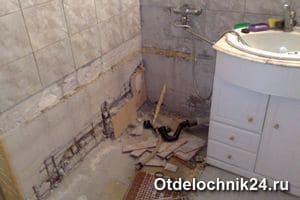 выровнять стены в ванной