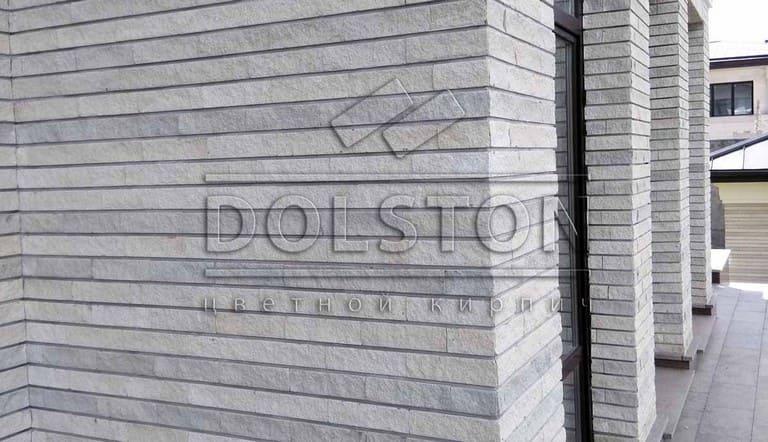 фасад дома из фасадной плитки