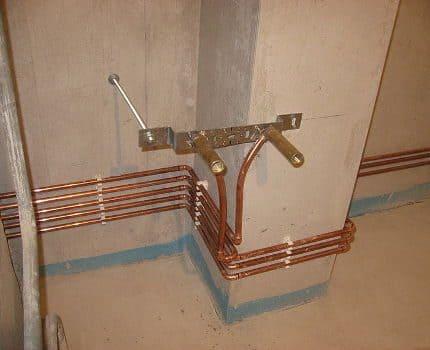 Замена стального водопровода на медный