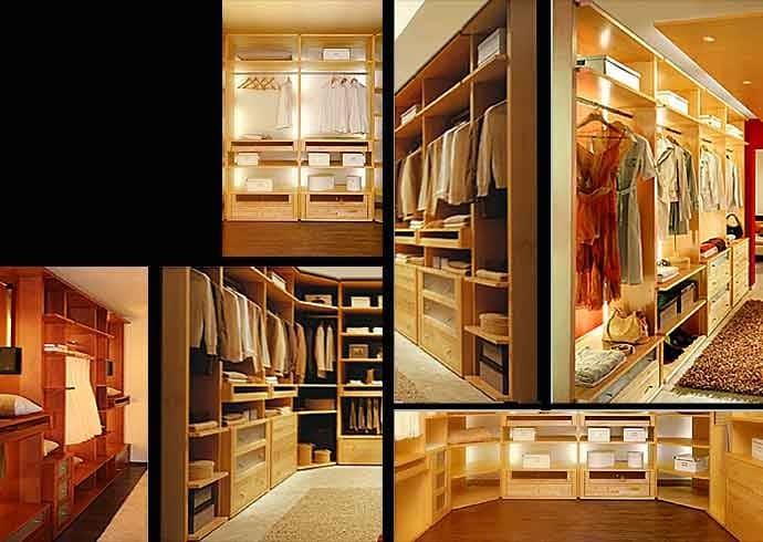 зонирование гардеробных комнат