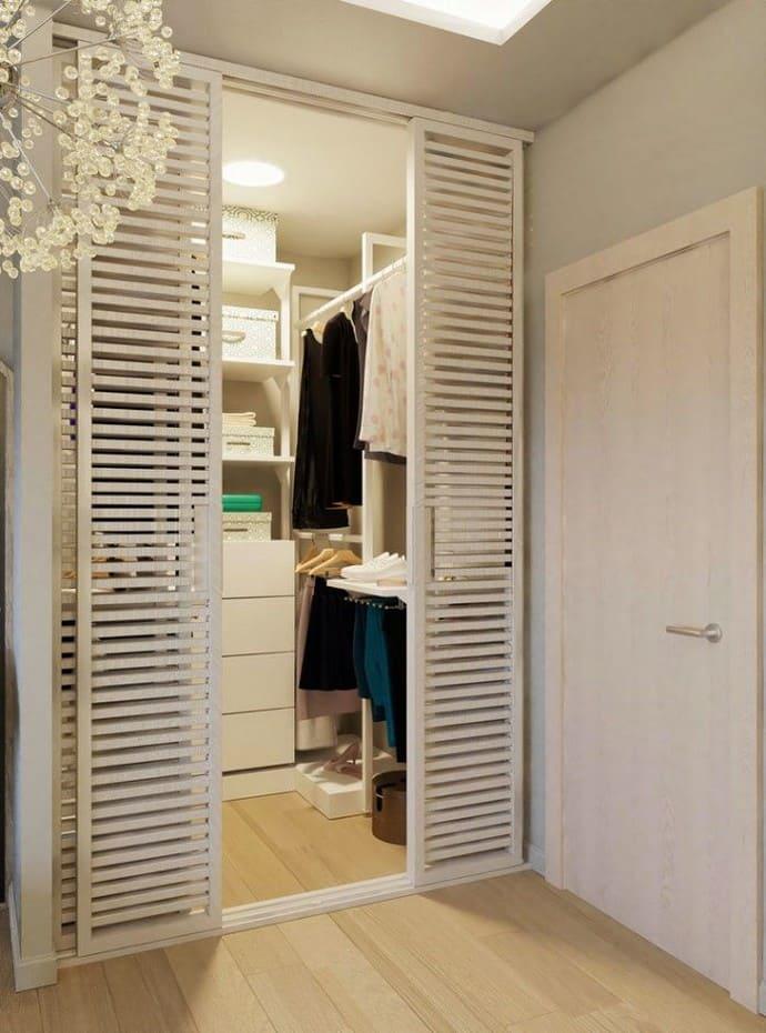 освещение гардеробных комнат